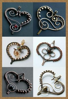 wire wrapped heart pendants                                                                                                                                                      More