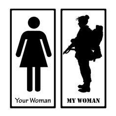 my bf found this its perfect Military Couples, Military Girlfriend, Military Love, Military Humor, Female Soldier, Female Marines, Female Warriors, Soldier Silhouette, Army Life