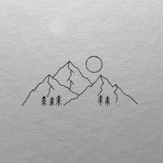 mountain simple drawing drawings line minimal animals easy sketch range zeichnen vary would mountains tattoo minimalist sketches berg truly total