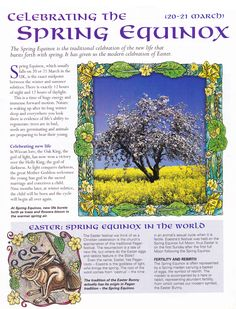 Spring Equinox:  Celebrating the #Spring #Equinox.