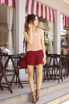 baby pink and burgundy
