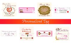 Personalized Tags by Shuang Xi Le Wedding Favours, Wedding Gifts, Personalized Tags, Favors, Joy, Wedding Day Gifts, Presents, Custom Labels, Wedding Keepsakes