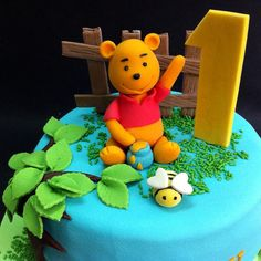Fondant 3D Winnie The Pooh  Online personalize your special birthday cake to loved one & friend in Kuala Lumpur, Selangor, Johor, Penang, Malaysia. CakeDeliver.com