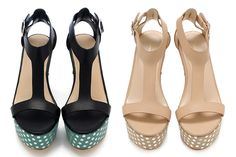 DIY: Loeffler Randall Inspired Polka Dot Sandals | Stripes & Sequins