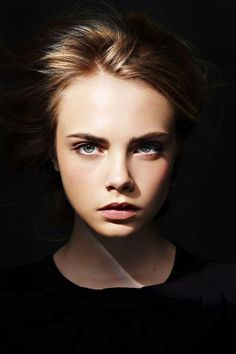 [Cara Delevingne, photographer unknown] I will have this kind of my portrait and put it in a big frame, then, hang it on the wall of my future home... and when the guest see it, they will stare for long.