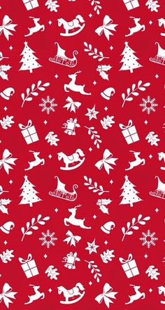 Red and white Christmas pattern wallpaper Christmas Wallpapers Tumblr, Christmas Phone Wallpaper, Tumblr Iphone Wallpaper, Winter Wallpaper, Holiday Wallpaper, Red Wallpaper, Paper Wallpaper, Iphone Wallpapers, Iphone Backgrounds