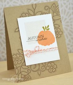 Autumn Wishes Card by Nichole Heady for Papertrey Ink (September 2013)