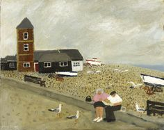 Gary Bunt - Fish and Chips for Two- oil n canvas 16x20 We must go down to the sea again Just like we used to do Fall in love all over again And have fish and chips for two