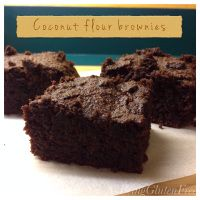 Delicious Gluten Free Coconut flour brownies!