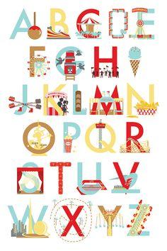 Amusement Park Alphabet - Ann Shen