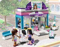 1000 images about lego friends on pinterest lego for Salon de coiffure lego friends