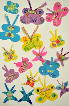 Use basic craft materials to create this easy butterfly craft for kids Kids Crafts, Crafts For Kids To Make, Paper Butterfly Crafts, Paper Butterflies, Butterfly Drawing, Spring Painting, Casino Theme Parties, Lessons For Kids, Craft Materials