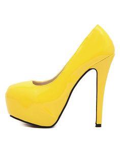 Heels I LOVE! Summer Heels Style Trend = Yellow!  Sexy Yellow Stiletto Heels!