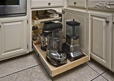 Gripping Blind Kitchen Cabinet Storage Solutions for Kitchen Cabinet Appliance Storage with Cuisinart Food Processor Juicer and Breville Blender from Cabinet Decor Accents