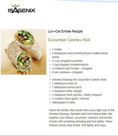 ISAGENIX Low Cal Cucumber Cashew Roll http://darceedorrans.isagenix.com