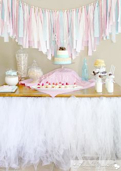 Pancake and pajamas  birthday party dessert table! See more party planning ideas at CatchMyParty.com!