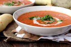 Spicy Tomato Soup   (brown sugar, chili garlic sauce, canned diced tomatoes, coconut milk, basil, cilantro)