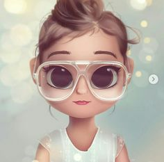 New painting portrait girl illustrations Ideas Cute Girl Drawing, Cartoon Girl Drawing, Cartoon Drawings, Doll Drawing, Drawing Eyes, Cute Cartoon Girl, Cartoon Man, Cartoon Ideas, Girly Drawings