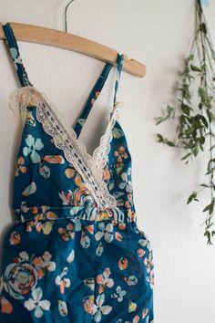 Navy Fleur Bohemian Jumpsuit c Hipsterlittles by hipsterlittles
