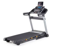 NordicTrack C990 treadmill with a tablet.