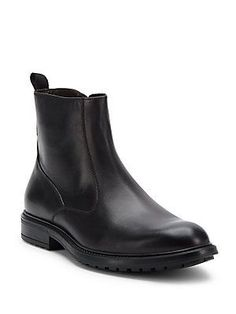 Bruno Magli Leather Ankle Boots - Black - Size