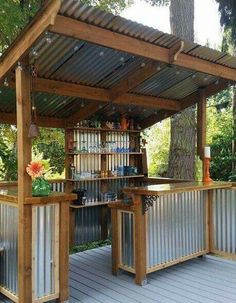 Outdoor bar....going to make one to include the barbecue