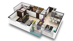 Apartamentos Tipo B.  Estos son hermosos apartamentos de 2 o 3 habitaciones con un cómodo walk-in closet en la habitación principal. El área de construcción es de 67 m2 más parqueo.  Contáctenos al Tel:+506 2214 1111. Email:info@bambuecourbano.com. Web:http://bambuecourbano.com