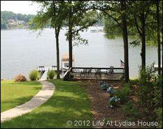 Lake house back yard