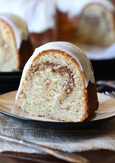 This Cinnamon Roll Pound Cake is incredibly buttery, sweet and swirled with cinnamon. The texture is soft and moist. Perfection!