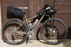 Nice setup for lightweight bikepacking. I'm liking the leftie fork and the tri bars