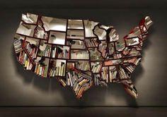 a map bookshelf