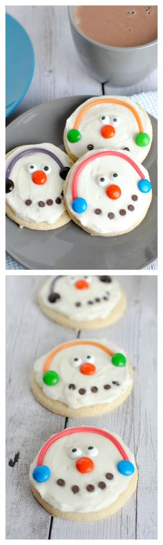 Cute and Easy Snowman Cookies