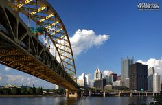 Pittsburgh view from under the bridge