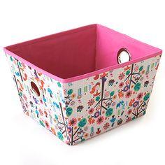 Girls Pink Forest Print Storage Bin $4.99
