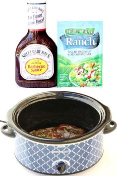 BBQ Ranch Pork Chops Crock Pot Recipe Ingredients} - The Frugal Girls - Ranch Barbecue Pork Chops Crockpot Recipe - Barbecue Pork Chops, Ranch Pork Chops, Bbq Crockpot Pork Chops, Pork Ribs, Pork Chop Recipes, Crockpot Recipes, Cooking Recipes, Crockpot Meals Easy, Crockpot Dishes