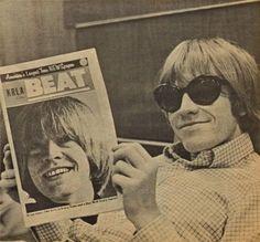 Brian Jones enjoying an article about him. The Rolling Stones, Brian Jones Rolling Stones, Rollin Stones, Grunge, Charlie Watts, British Rock, Keith Richards, Album Songs, Mick Jagger