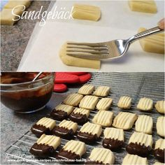 Oma's Sandgebäck (German Shortbread's dipped in chocolate - no recipe/pic only)