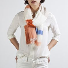 Love the scarf- perfect for beach or brightening up a winter's outfit. Everlane - The Spring Scarf $70