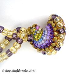 Clasp of beaded bead necklace