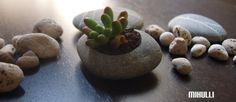 zen garden beach stone flower planter  hand engraved by Mihulli, $15.00