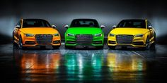 """Audi is launching an ultra-limited special edition of its cool and powerful S3, one that's specific for the U.S. market. First reported by our pals at the Audi enthusiast website Fourtitude, Audi of America has created an Exclusive Edition package that includes colorful paint and interior trim—at a whopping $57,250 or $59,900, depending on the color choice. #Audi  #Cars #Rides #Auto #iAUTOHAUS"