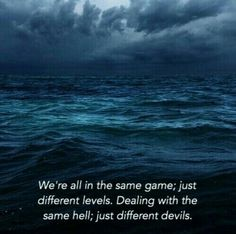 Just different devils...