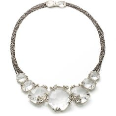 Alexis Bittar Silver Gaze Marquis Cluster Bib Necklace (87 095 UAH) ❤ liked on Polyvore featuring jewelry, necklaces, accessories, nakit, bib necklace, cluster jewelry, alexis bittar necklace, claw necklace and round necklace