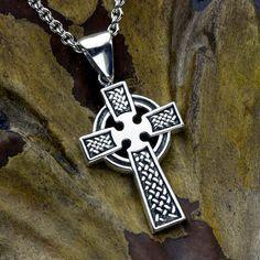 Sterling Silver Christian Cross Celtic Irish by DavidDafferDesigns Jewelry Rings, Silver Jewelry, Arrow Necklace, Pendant Necklace, Irish Celtic, Sterling Silver Cross, Christian, Detail, How To Make
