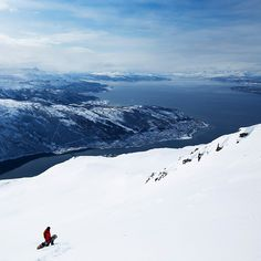 Feeling small in the mighty Narvik! www.norrona.com