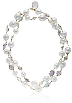 BAROQUE CULTURED PEARL AND MULTI-GEM NECKLACE Christie's Christie's Jewels online