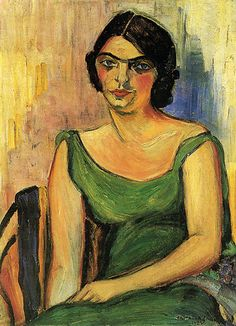 Anita Malfatti (Brazil 1889-1964), Fernanda de Castro, oil/canvas, 1922.