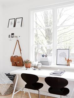 Natural light home office inspiration · workspace design · creative studio · artist desk