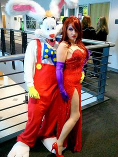 Roger and Jessica Rabbit Couples Costume Idea #Couples #Halloween #Costumes