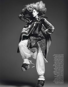 Iselin Steiro by David Sims for Vogue Paris October 2013 | The Fashionography